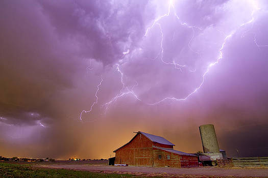 James BO  Insogna - Red Barn on a Farm and What a Beautiful Sight