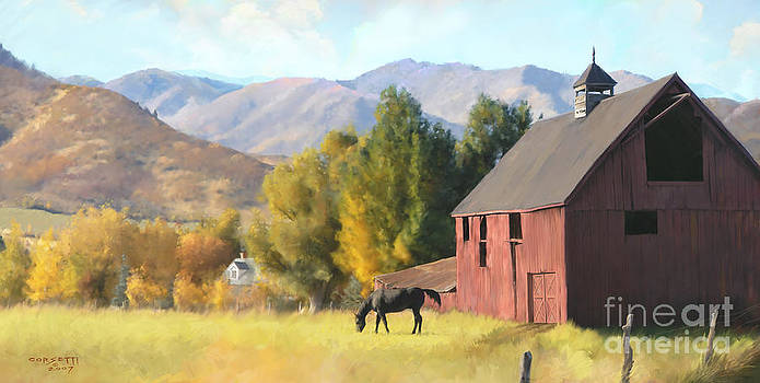 Red Barn by Rob Corsetti