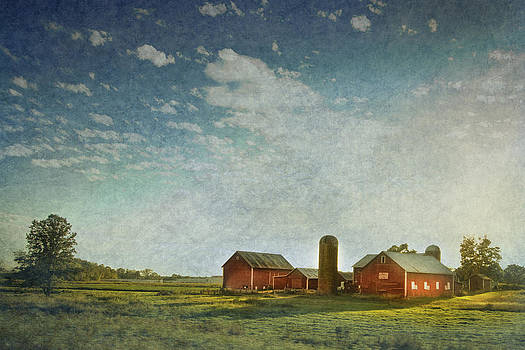 Red Barn with Textures by Victoria Winningham
