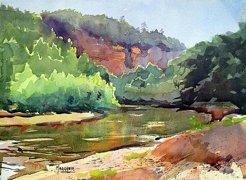 Red Bluff On The Meramec by Spencer Meagher