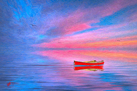 Red Boat by Michael Petrizzo