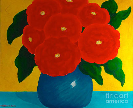 Red Bouquet by Anita Lewis