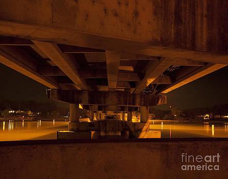 Red bridge by Billy Lewis