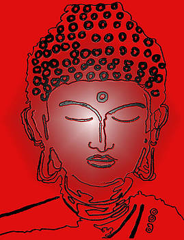 Red Buddha by Christine Perry