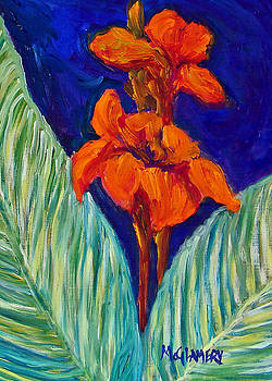 Red Canna Lilies by Betty McGlamery