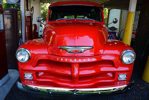Red Chevy Truck by Glenn McGloughlin