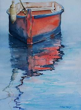 Red Dinghy by Celene Terry