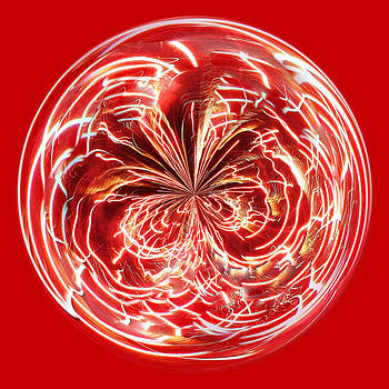 Paulette Thomas - Red Fireworks Orb