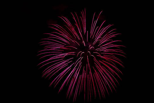 Red Fireworks by Wayne Stabnaw