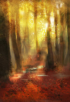Red forest by Anastasia Michaels