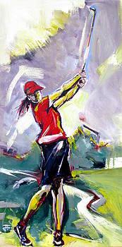 Red Golf Girl by John Gholson