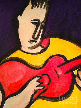Red Guitar by Tali Farchi