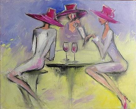 Red Hat Sociaty 4 wine by Nelya Shenklyarska