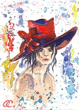 Red Hats card one by Olga Sergeeva
