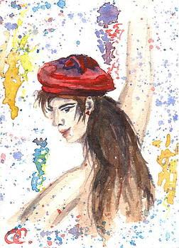 Red Hats card three by Olga Sergeeva