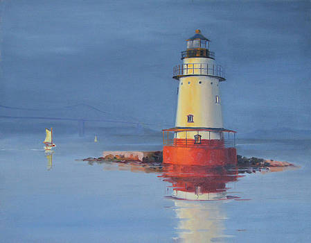Red Lighthouse  by Rich Alexander