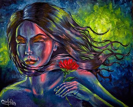Red Lotus by Yonan Fayez