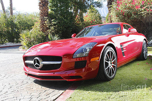 Red Mercedes Benz by Nina Prommer