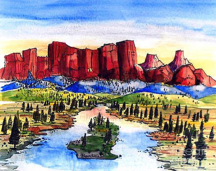 Red Mountains by Terry Banderas