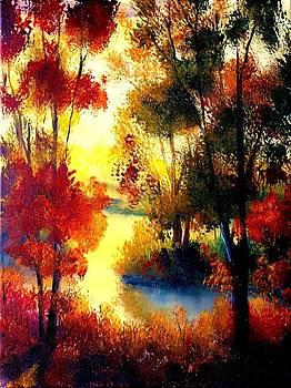 Red October sundown by Liana Horbaniuc
