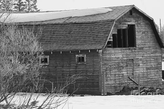 Red Old Barn by Mary Mikawoz