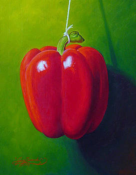 Red on Green by Gary  Hernandez