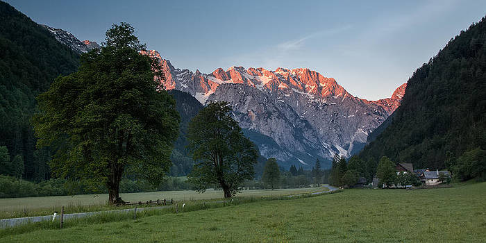 Red peaks by Davorin Mance