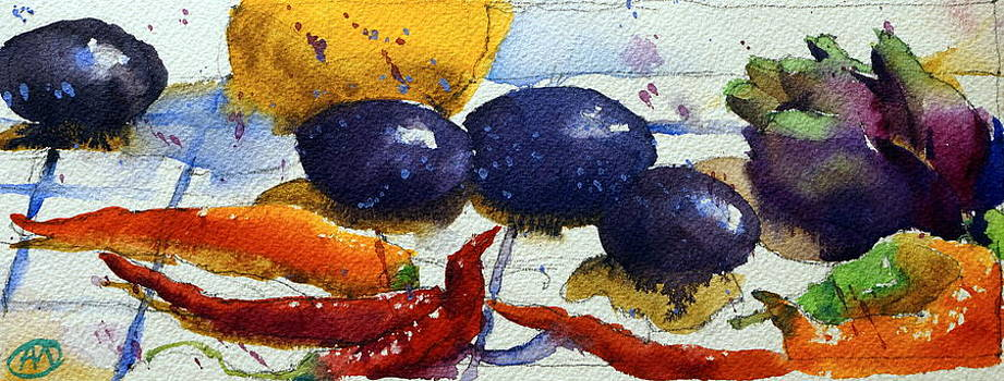 Red Peppers and prunes by Andre MEHU