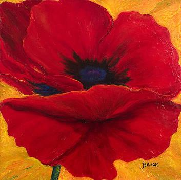 Red Poppi II by Trish Bilich