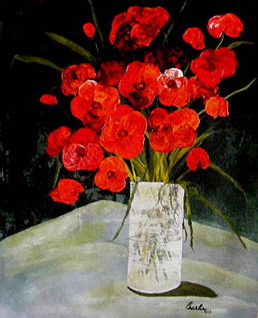 Red Poppies by Pearlie Taylor