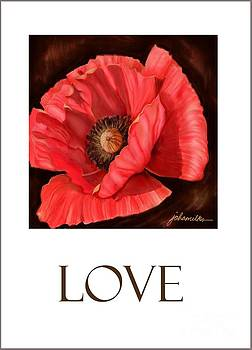Red Poppy Card by Joan A Hamilton