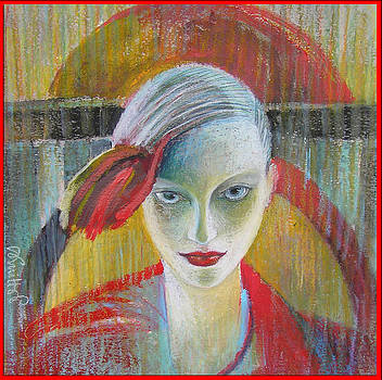 Red Portrait by Alicja Coe