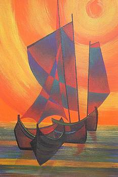 Tracey Harrington-Simpson - Red Sails In The Sunset
