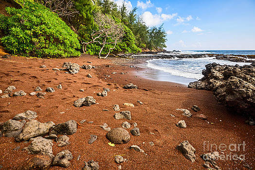 Jamie Pham - Red Sand Seclusion - the exotic and stunning Red Sand Beach on Maui
