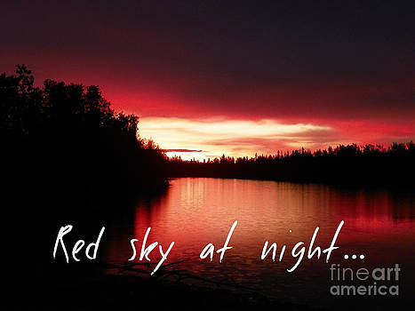 Red sky at night by Jennifer Kimberly