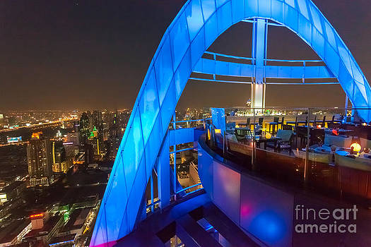Red Sky Bar in Bangkok Thaila by Fototrav Print
