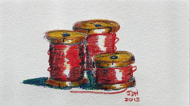 Red Spools of Thread by Joseph Hawkins