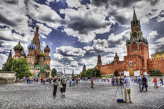 Red square Moscow cityscape by Valerii Tkachenko