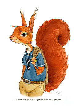 Red Squirrel by Blair Bailie