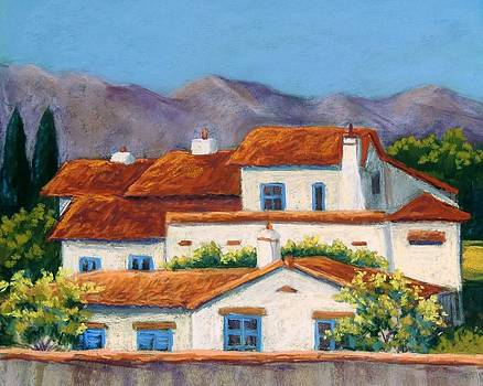 Red Tile Roofs by Candy Mayer