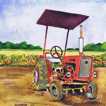 Red Tractor at Rottcamp's Farm by Susan Herbst
