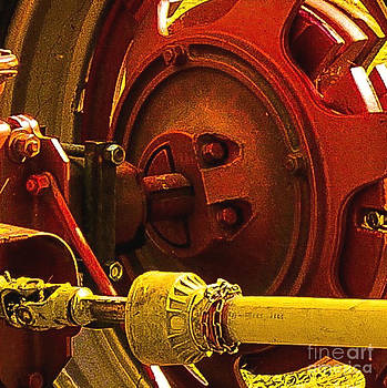 Red Tractor Gear shaft by Barbara Milton