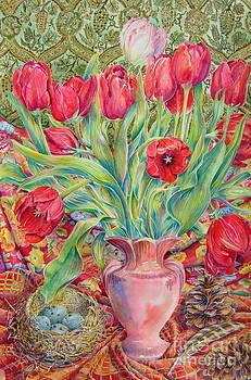 Red Tulips by Barbara Timberman