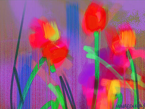 Red Tulips by Maureen Kealy