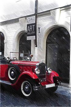 Jenny Rainbow - Red Vintage Car