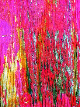 'Red Wall Abstract' by Liza Dey