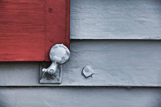 David Letts - Red Wood Window Shutter V