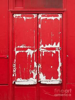 BERNARD JAUBERT - Red wooden door