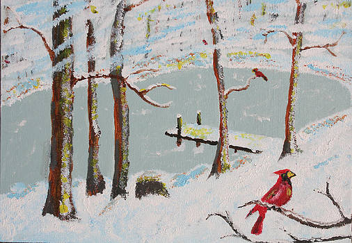 Redbird Winter by Harold Greer
