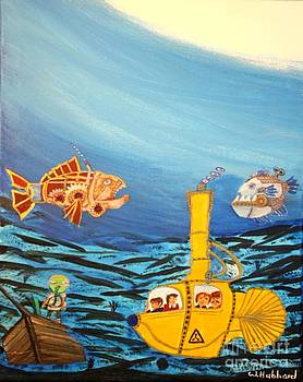 Redfish Bluefish and a Yellow Submarine by Bill Hubbard